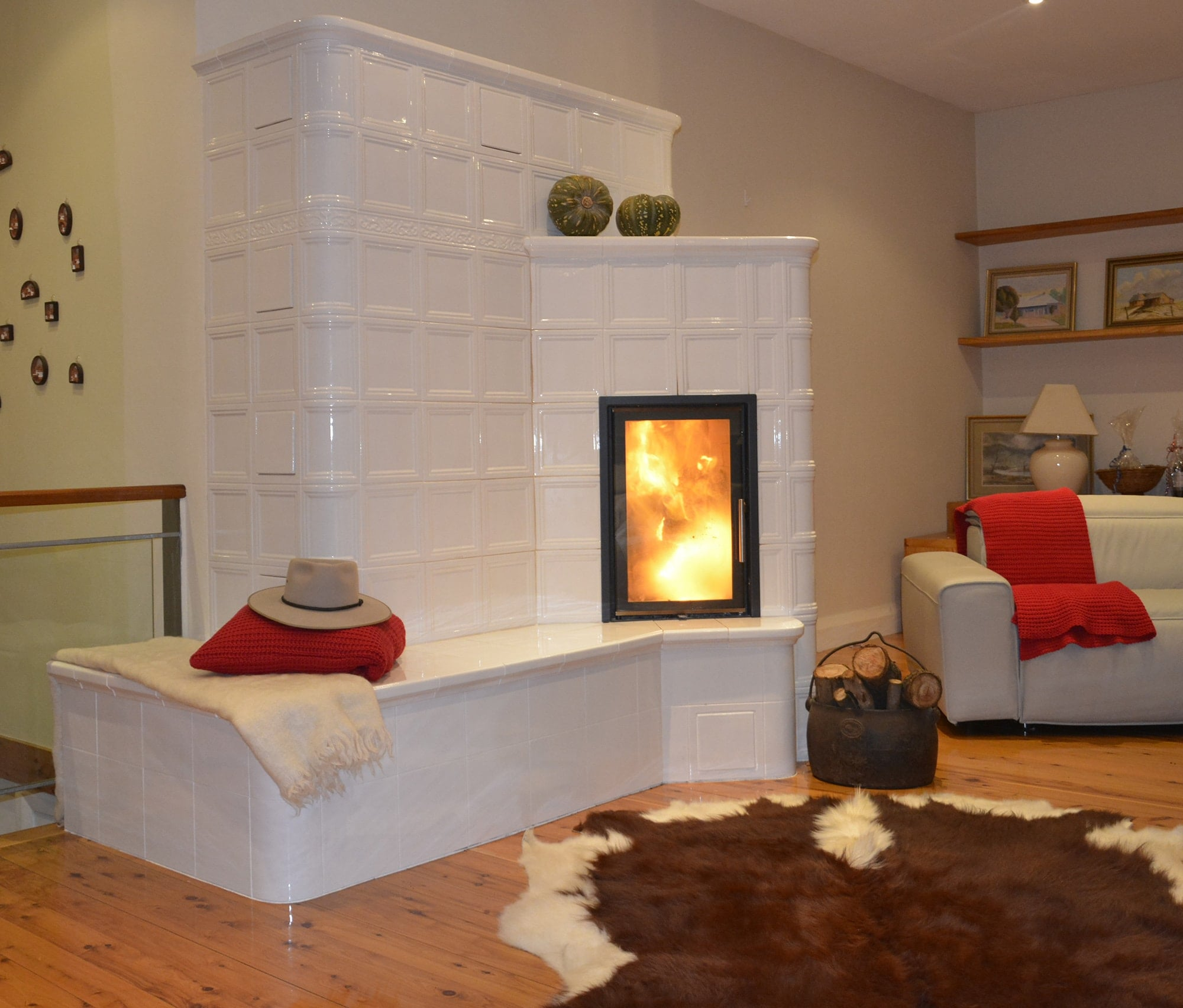 Traditional fireplaces reinvented