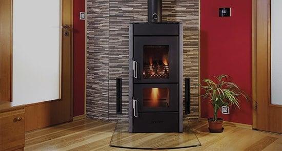 Leading edge in wood fire heating